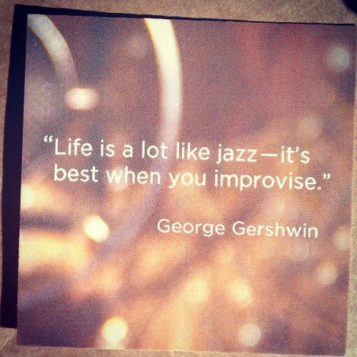 A little fun Gershwin quote from @julepmaven