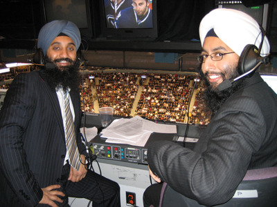 "The weekly Punjabi broadcast of ""Hockey Night in Canada,"" as venerated an institution for Canadians as ""Monday Night Football"" is for Americans, is the only N.H.L. game called in a language other than English or French. The broadcast marries Canada's national pastime with the sounds and flavors of the Indian subcontinent, providing a glimpse into the changing face of ice hockey.  more."