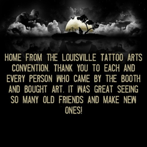 Seriously thank you everyone! #louisvilletattooconvention #louisville #art #timebombkustoms