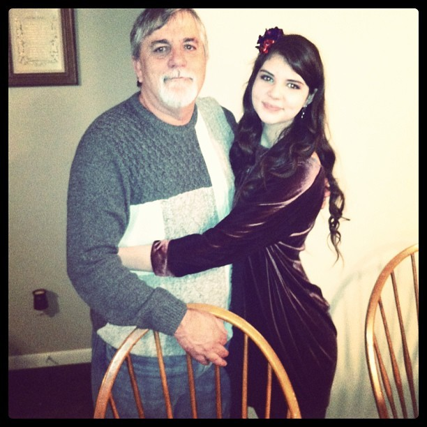 Me and Poppa Bear at Christmas! #love #daddy's girl