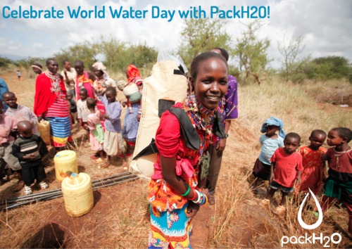 Celebrate World Water Day with PackH2O! Donate a pack, save lives! www.packh2o.com