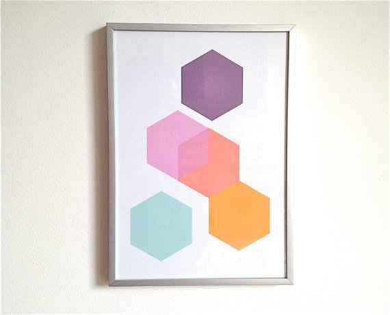 (via Print Set Geometric Print Series Minimalist Wall by mipluseddesign) I find I'm moving more and more towards a more modern aesthetic.