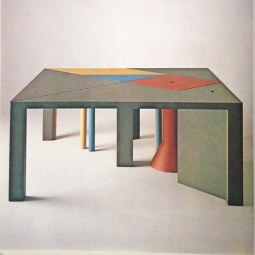 "Tangram"" #Modular #DiningTable by #MassimoMorozzi #Italy #1983 #design #memphis http://on.fb.me/161nyds"