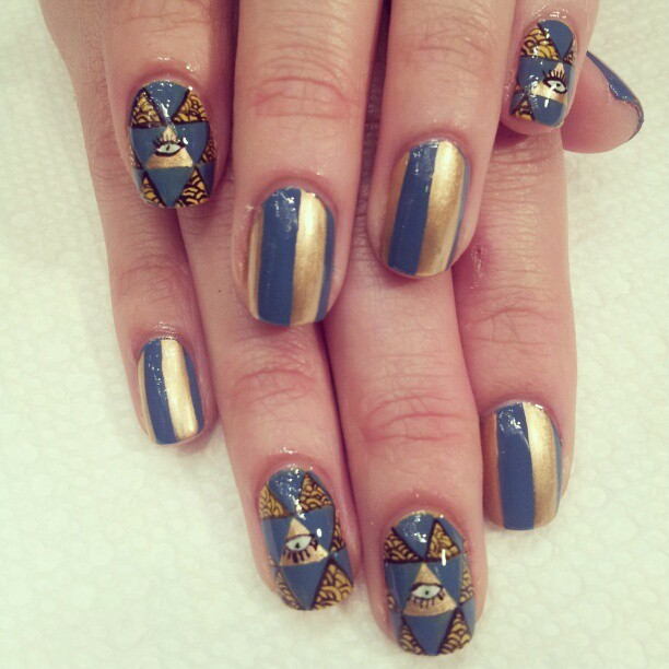 #nailart frol todays @vanityprojects pop up salon at @momaps1 #nails #nailaddicts #naillife #amivnails