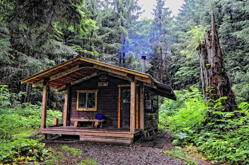 Forest Cabin, Alaska photo via drakko
