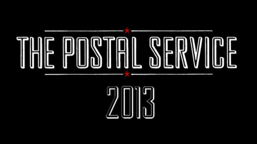 We don't know what this means either, but something from The Postal Service coming in 2013. Update via Billboard.