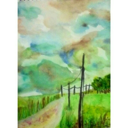 31/12/2012 #art #artists #landscape #sky #path #watercolor #winsorandnewton #canson #pental #hongkong