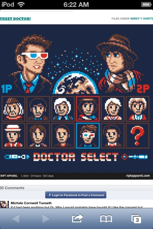 Pretty cool Doctor Who tee over at Ript today.  http://www.riptapparel.com/