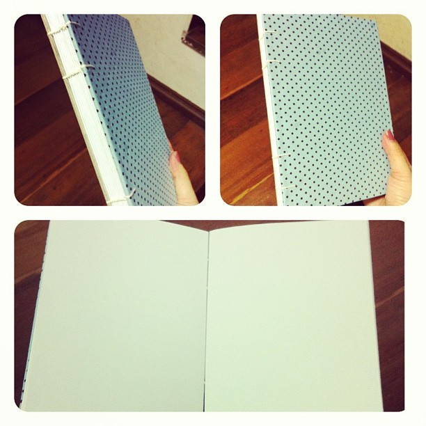 #sketchbook that I made. :) #handmade #notebook @tolagunestro e @danilofilardi Taí! :)