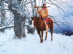 'Winter Stillness': a painting by David Mann