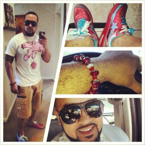 On my #flyShit #DS #Bape #Bapesta #throwback #doyleAccessories #wristCandy #Door sunglasses…