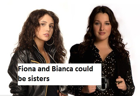 "thisisaconfessionblog:  ""Fiona and Bianca could be sisters."""
