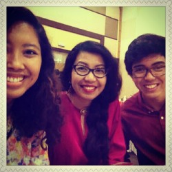 Mingming, Linny dan Tuck at Kak Ina's wedding. @azzaghaz #love #family #awesometrio
