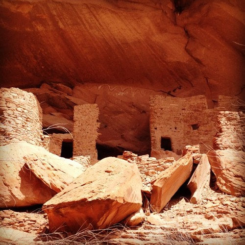 twoteaspoonsplease:  River House. #anasazi #pueblo #nativeamerican #riverhouse #rivertrip #sanjuanriver