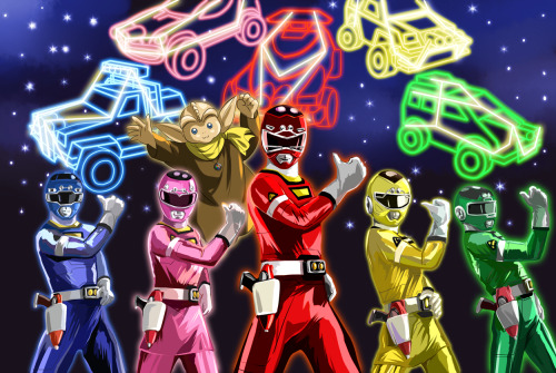"nipponhero:  ""Fighting in the name of Traffic Safety!! Gekisou Sentai…! CAAAAAAAAAAARRANGER~!!!"" - Kyosuke Jinnai(RED RACER)"
