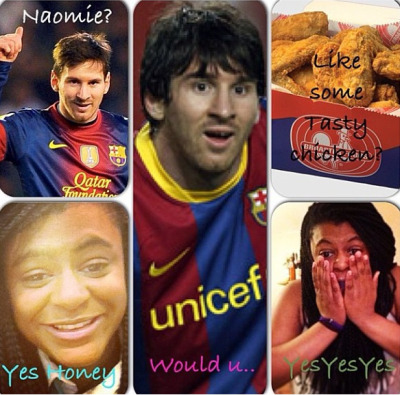 I'm such an idiot lol #lionel #messi #totally #obsessed #chicken #fever #im #a#totsl #idiot #lol