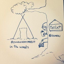 March 7:in the woods :) #doodleadaymarch @ellolovey #camping #sketch #drawing