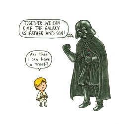 cannotstopwalking:  darth vader and son | Tumblr no We Heart It. http://weheartit.com/entry/53157204