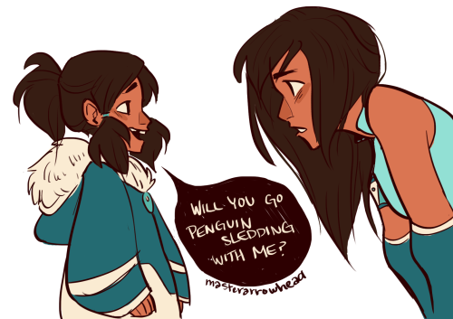 "masterarrowhead:     ""Wait what do you… you're me!""  ""No, you're me.""  ""What difference does it make?""  ""Well, I'm the one who actually exists.""    One of those AU's where older Korra and her journey and adventure to Republic City never really happened. Mako, Bolin, Asami, and everyone she was friends with were all created in her mind after an accidental encounter with a polarbear dog and her pups left her in a coma. Young Korra had always been hotheaded and impulsive, but most of all she was lonely. Being forced to live in a compound where she had no friends or companions besides strict tutors and only able to see her parents once a week took its toll on her mind. So when she went into the coma her mind fabricated a world where she was free from the compound and where she had friends and love and family. That is until she was forced to wake up."