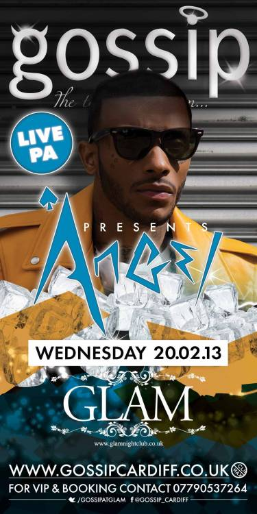 "Angel will be performing his hits including the massive ""Wonderful"" live at Gossip on Wednesday 20th February! Tickets available from www.climaxpromotions.co.uk"