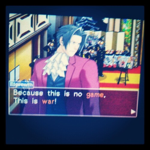 Calm yo tits, #Edgeworth. #milesedgeworth #aceattorney #aceattorneyinvestigations #aai #gaming #ds