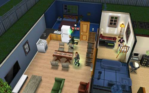 Going Ghostbustin' on Sims  Disregard the chains in the bathroom.