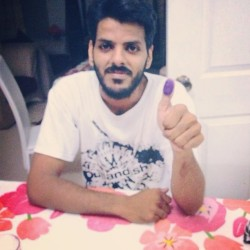 Thats the spirit out voting with an outland tee #pakistan #vote #election #timeforchange #karachi