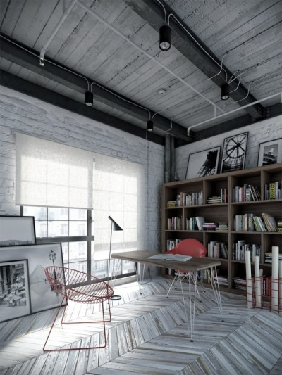 homedesigning:  (via A Dozen Home Workspaces)