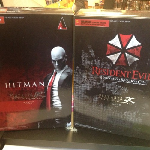 New #playarts #kai #hitman and #residentevil #lupo figures are in stock. #toystore #toyshop #bestcomicstoreever (at Comic & Figure Addicts)