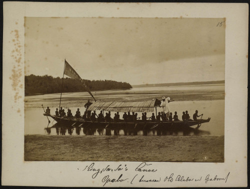 ukpuru:  Canoe of King Jaja of Opobo [Nigeria]. Unknown photographer. 1882.
