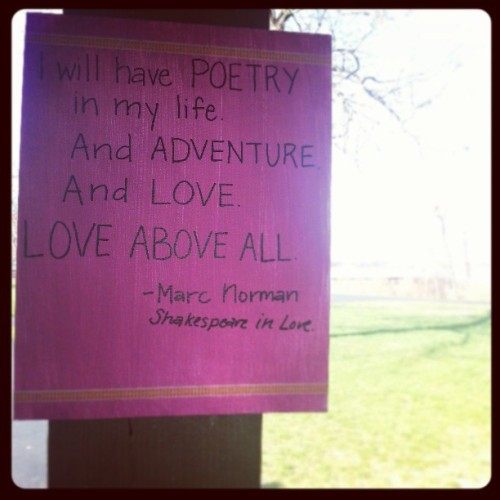 A good day. #poetry #love