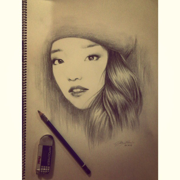 I drew @imjennim :) Hope she sees this and likes it. ♥ #art #drawing #portrait #clothesencounters