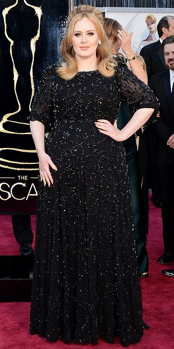 Adele at the 85th Annual Academy Awards I know it's just another long-sleeve black dress, but if it ain't broke, don't fix it, right?