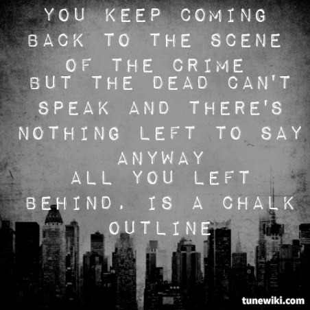 Chalk Outline Lyrics by Three Days Grace