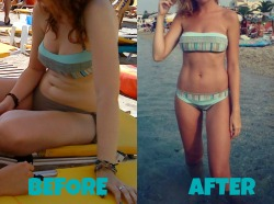 "summerskinny25:  beforeandafterfatlosspics:  flyingmycircus Height: 5'8"" Age: 20 Minus 20 lbs on the right pic. (from 27.3% body fat to 21.9%)  um…omg"