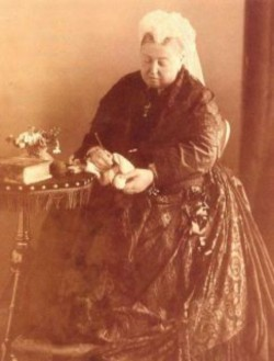 "makinology:  Queen Victoria crocheting … Monarch of the United Kingdom of Britain & Ireland …from 20 June 1837 until her death in 1901…from 1 May 1876, she used the additional title of Empress of India … ""During Victoria's reign, knitting & crochet experienced a dramatic resurgence in popularity. Well-bred girls were expected to learn how to knit. And here's a really important development we can all thank her for: because middle and upper class people were interested in knitting, we began to see some of the first formal documentation of how things should be made. That's patterns, ladies and gentlemen. The first printed patterns.  Queen Victoria promoted the fiber arts throughout her life. Shetland knitted lace became extremely popular in England when Queen Victoria fell in love with it. Late in life, Queen Victoria crocheted eight special ""Scarves of Honor"" to be presented as awards to British forces fighting in South Africa. Some believed this special honor to be the equal of, or even a rank above the Victoria Cross. "" ~…(via Queen Victoria 