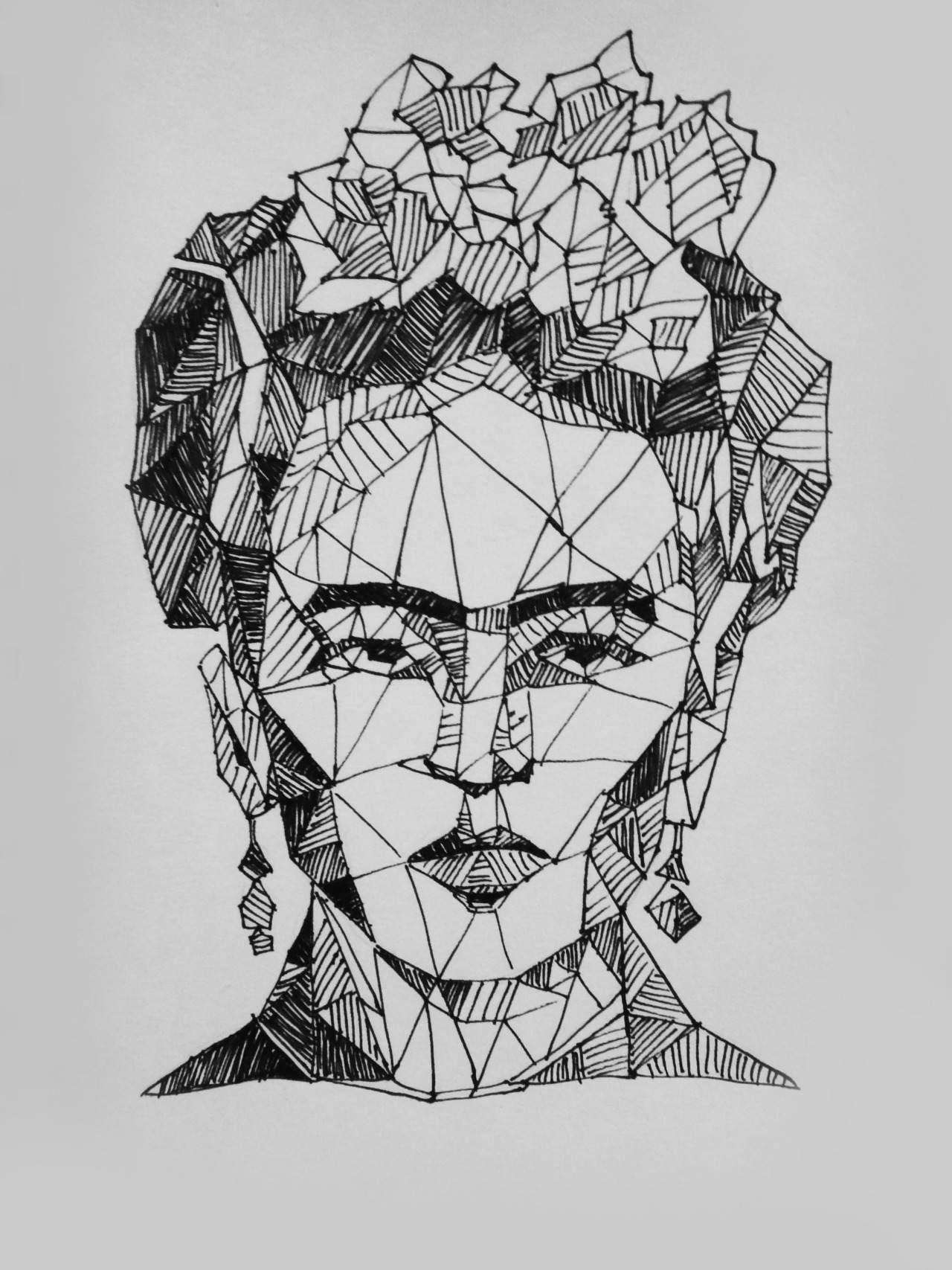 hermesmemxrane:  morrisseyporvida:  sighcry-five:  frida- quick sketch :)  I REALLY like this.  <3