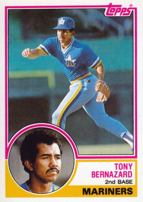 Random Baseball Card #2290: Tony Bernazard, second baseman, Seattle Mariners, 1983, Topps.