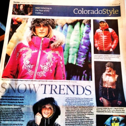 Look mom! We made the @denverpost Style Section! #SIA13 @collierbrands @steepskiing @rozgroenewoud