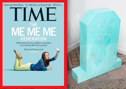 lawnlike:  Time Cover VS. my sculpture from 2010