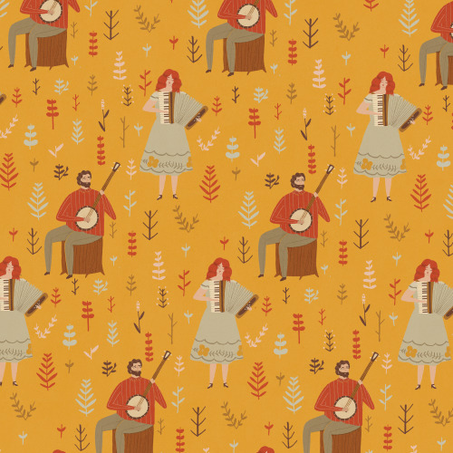 naomiwilkinson:  This pattern is now available as to download as a wallpaper via lagom design, its named sweet kathleen after this beautiful townes van zandt song