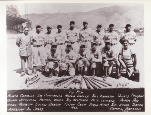 Vintage Negro League Photo of the American All-Stars circa 1945 with a young Jackie Robinson, Quincy Trouppe, Roy Campanella, and way more!