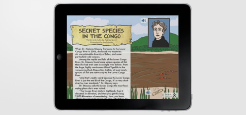springwise:  iPad magazine turns news into art via 'comics journalism' The recent demise of The Daily may have cast some doubt on the feasibility of the iPad-only model of publishing, but Symbolia is now attempting a novel twist. Specifically, Symbolia is a new iPad magazine that uses classic comics illustration to help bring the news to life. READ MORE…