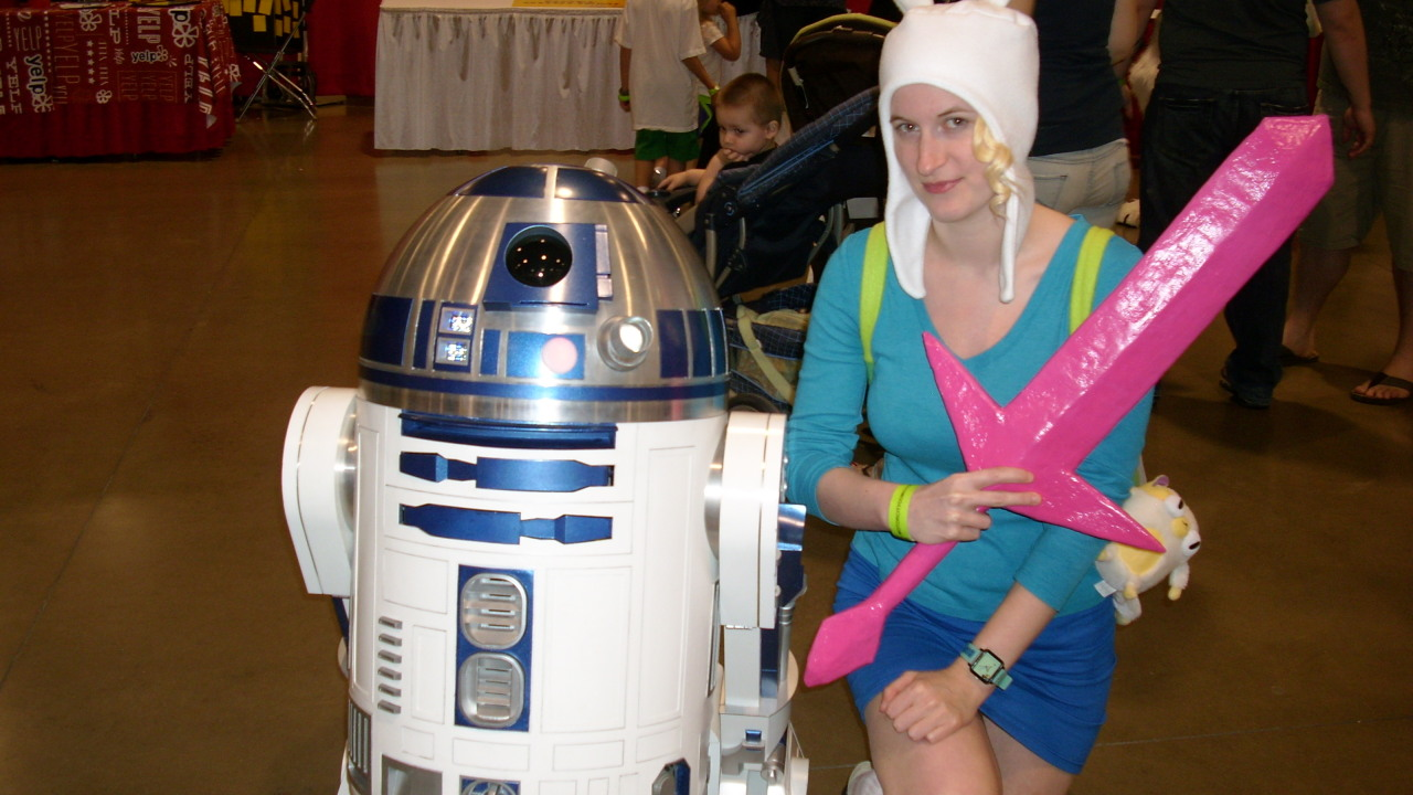 Some of my favorites from today at Motor City Comic Con! R2-D2, Captain Jack, Boba Fett, Faye Valentine, and my friend Ryan as Indiana Jones.  I loved being Fionna!