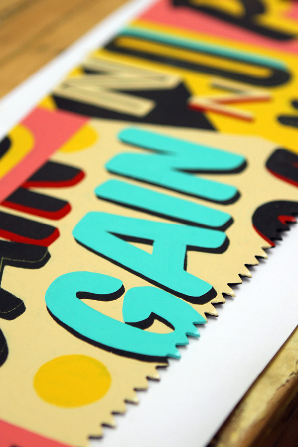 kimmydesign:   Hand-painted typography on vintage saws - useful for extracting extra budget from clients  By Vault46  via http://www.behance.net/gallery/(Sub)Prime-Cuts/8687817