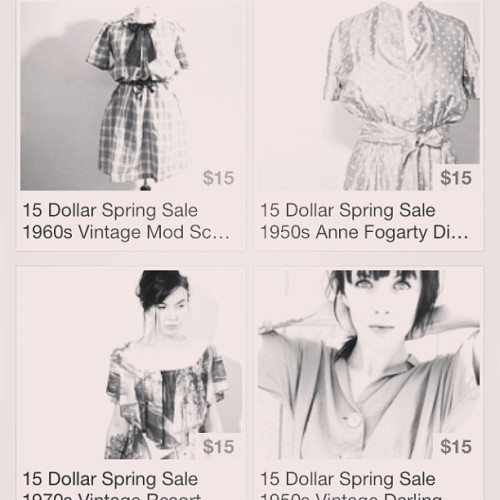 Spring Sale Dresses Section is done #etsy #sale #vintage #babes
