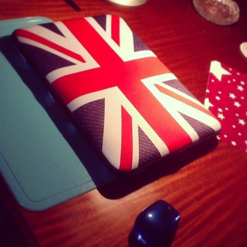 ❤ #unionjack #laptopsleeve 🇬🇧 (at Sani's Place)