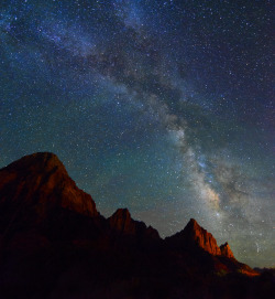 brutalgeneration:  Stars over the Watchman Pano (by Bill Ratcliffe)