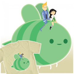 charlieramirez:  venetta:  My Bravest Warriors entry to WeLoveFine.com's contest!~ Love Stings  Vote for Venetta's shirt please!! Voting is now OPEN!