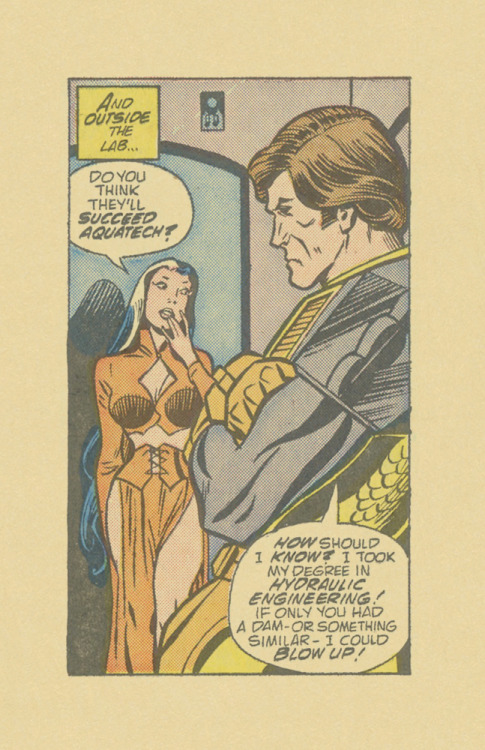 ISOLATED COMIC BOOK PANEL #338title: MANTECH #3 - P18:3artists: DICK AYERS, CHIC STONEyear: 1984